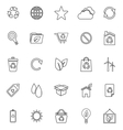 Ecology line icons on white background vector