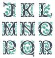 Vintage alphabet part 2 vector