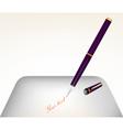 Purple pen mesh tool vector