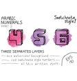 Colorful arabic numbers vector