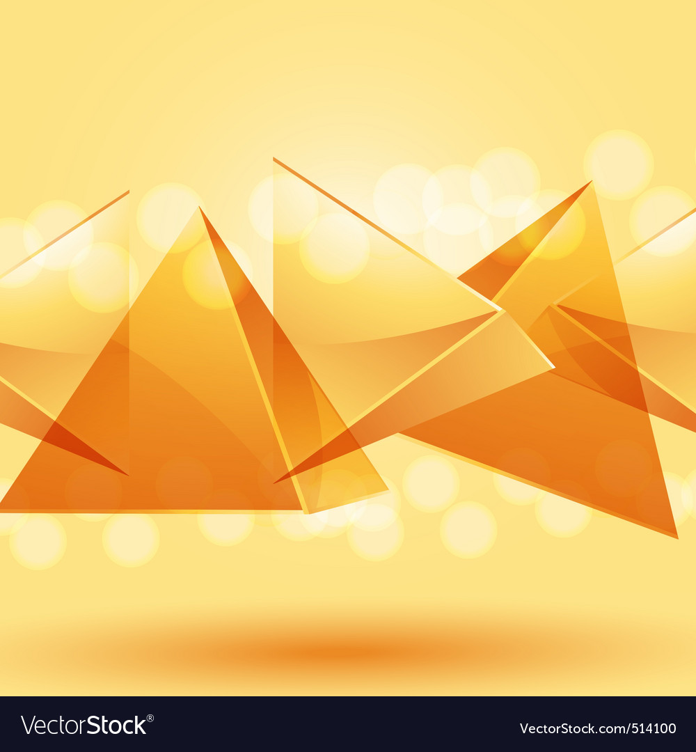 3d glass pyramid background vector | Price: 1 Credit (USD $1)