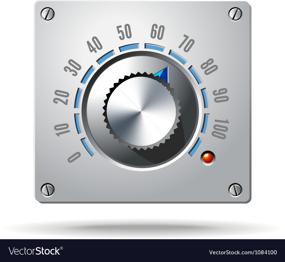 Analog control electronic regulator knob vector | Price: 3 Credit (USD $3)
