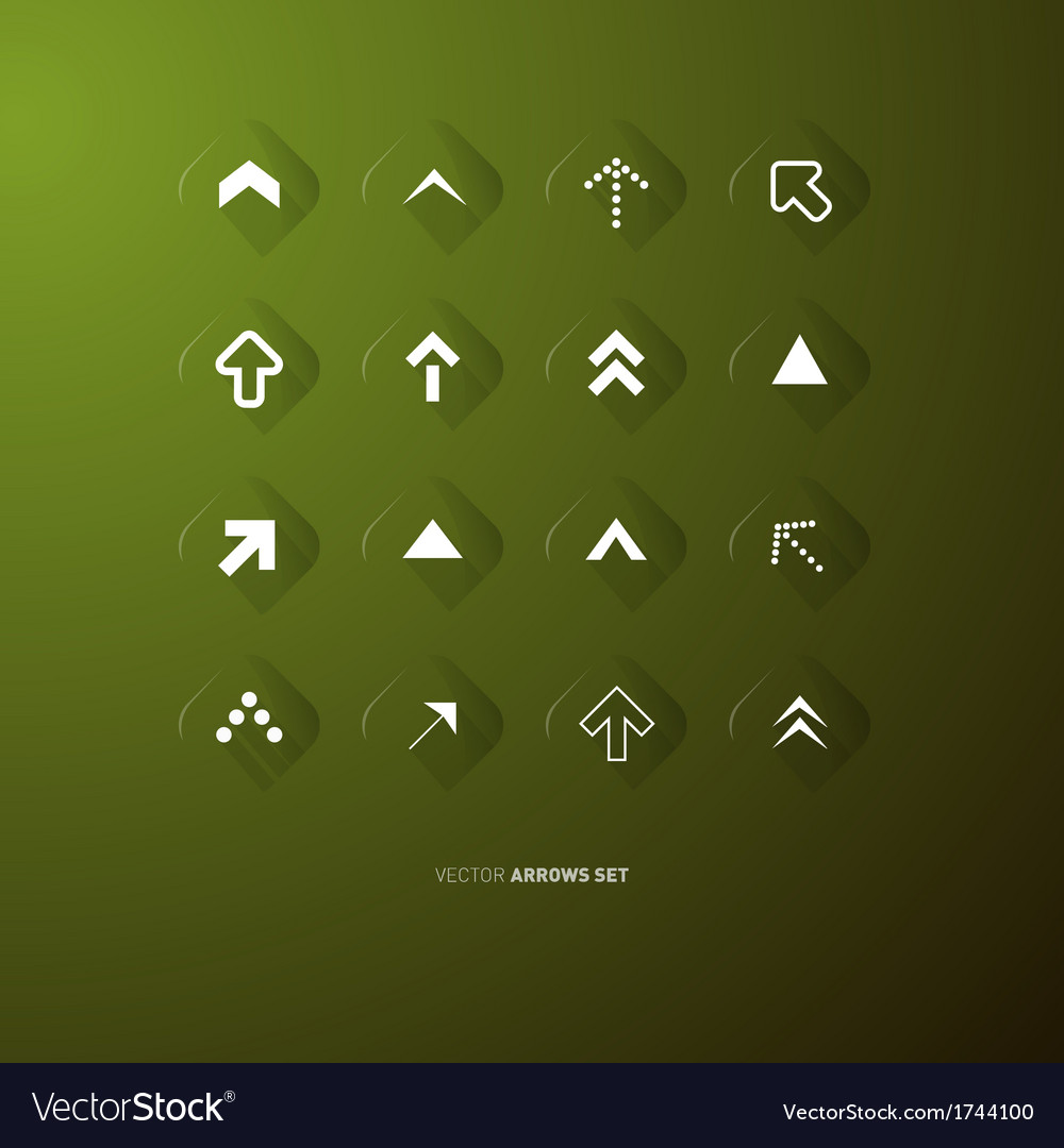Arrows buttons set vector | Price: 1 Credit (USD $1)