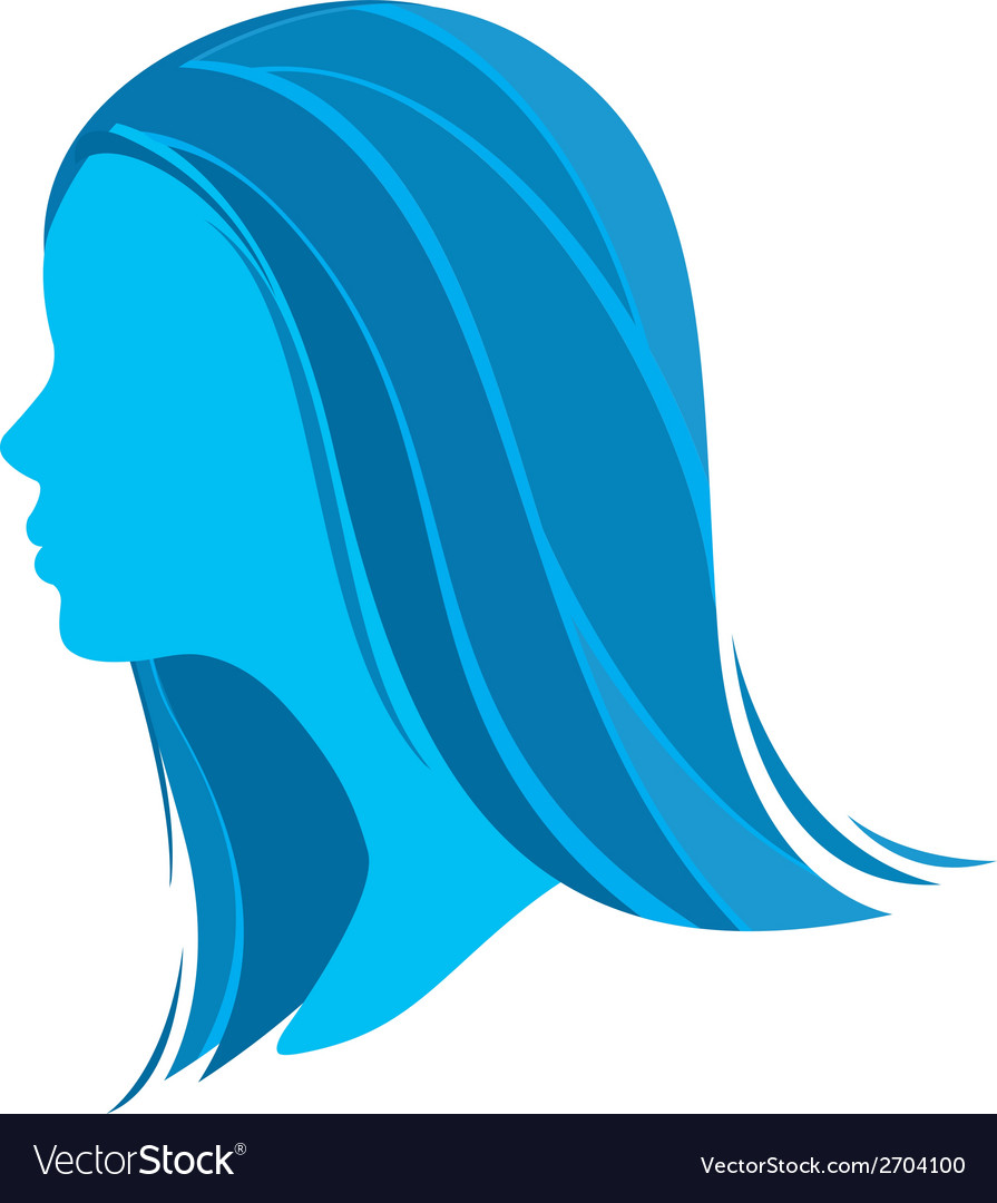 Beautiful girl profile vector | Price: 1 Credit (USD $1)