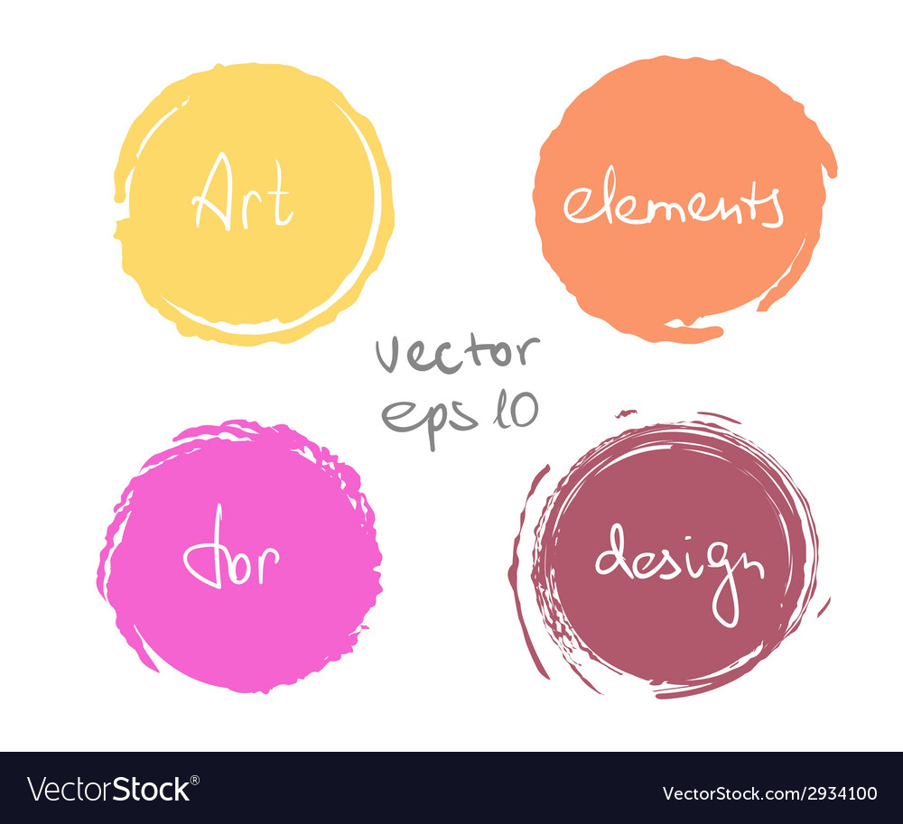 Circle paint drop set vector | Price: 1 Credit (USD $1)