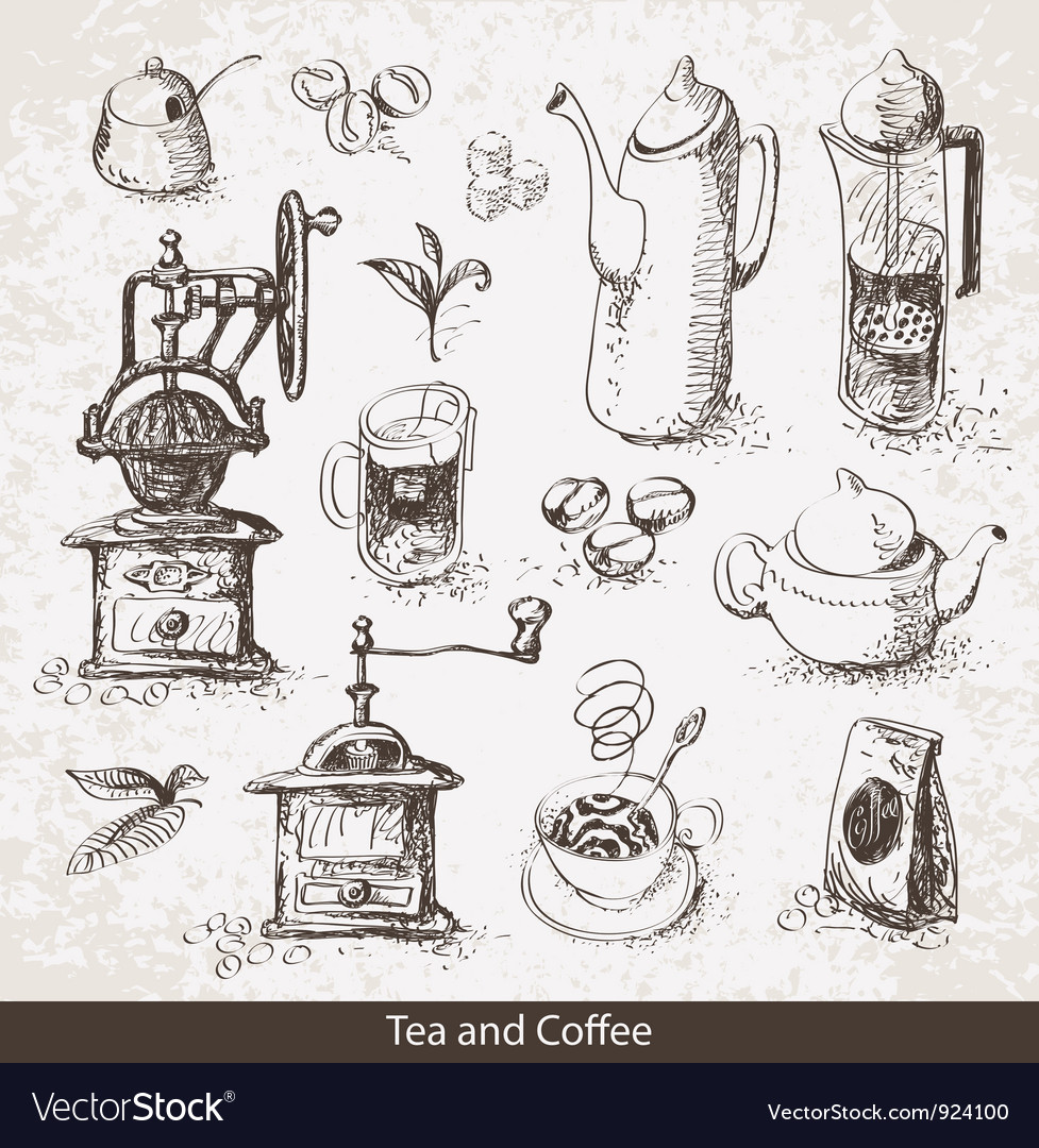 Coffee tea vector | Price: 1 Credit (USD $1)
