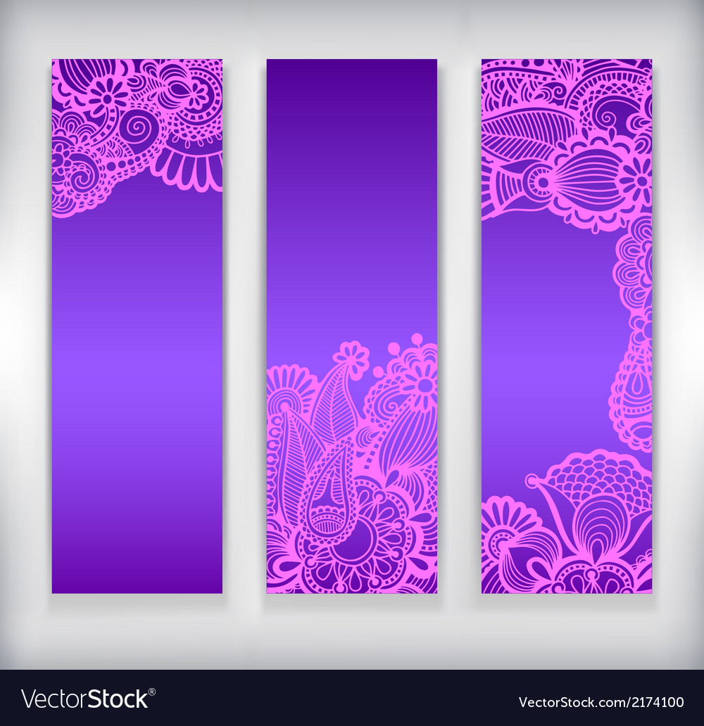 Collection of modern ornamental banner template vector | Price: 1 Credit (USD $1)