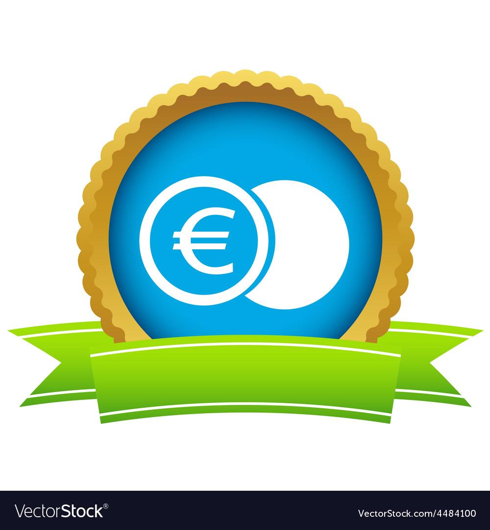 Gold euro coin logo vector | Price: 1 Credit (USD $1)
