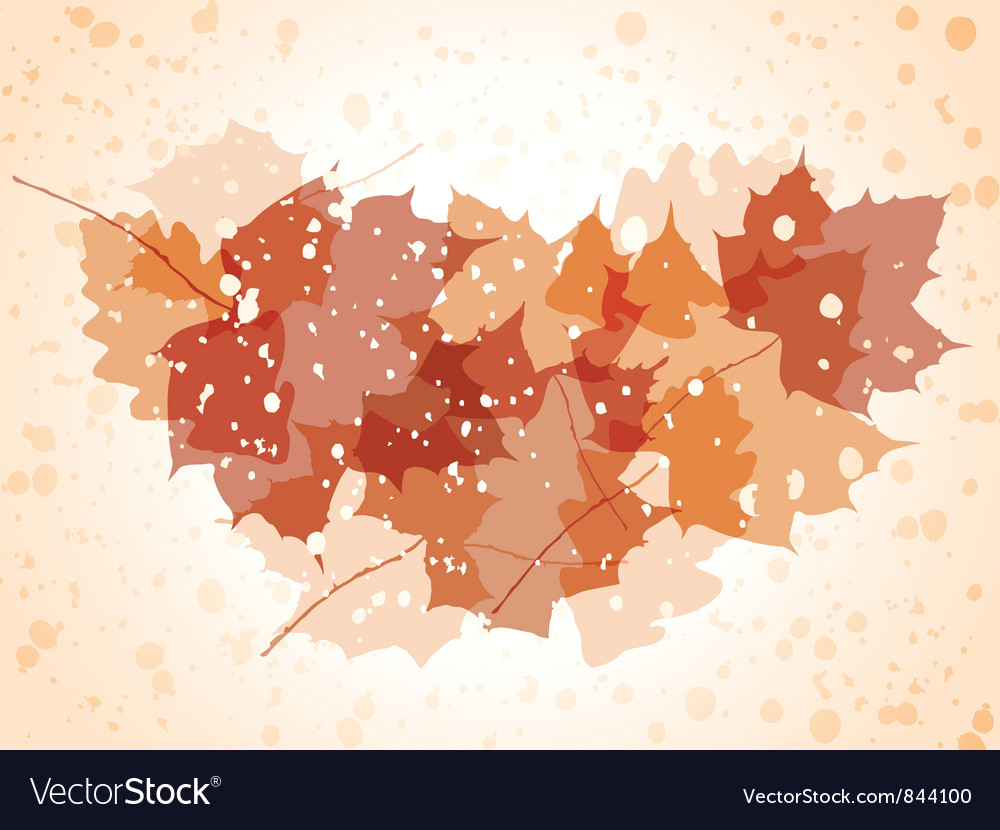 Grunge autumn background vector | Price: 1 Credit (USD $1)