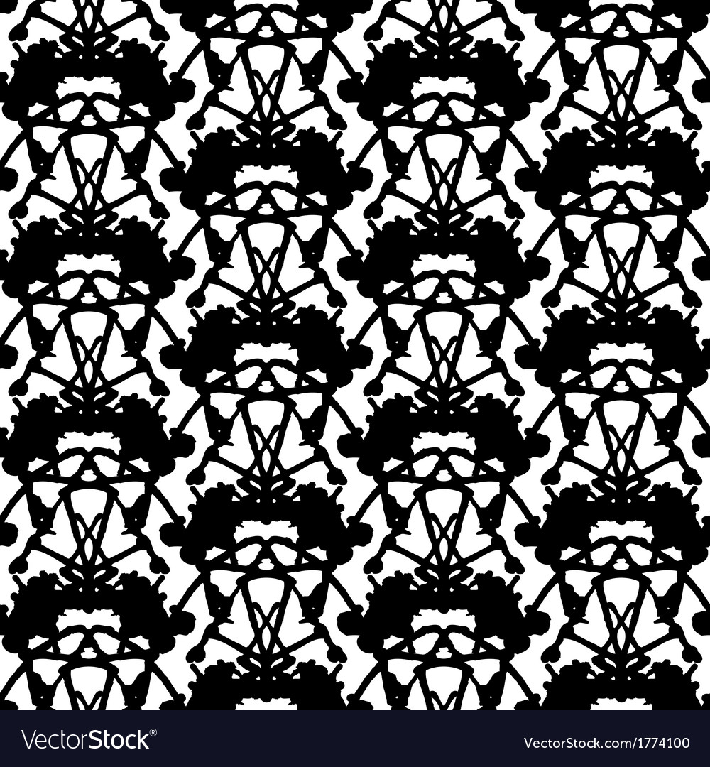 Hand painted pattern with thick inkblot vector | Price: 1 Credit (USD $1)