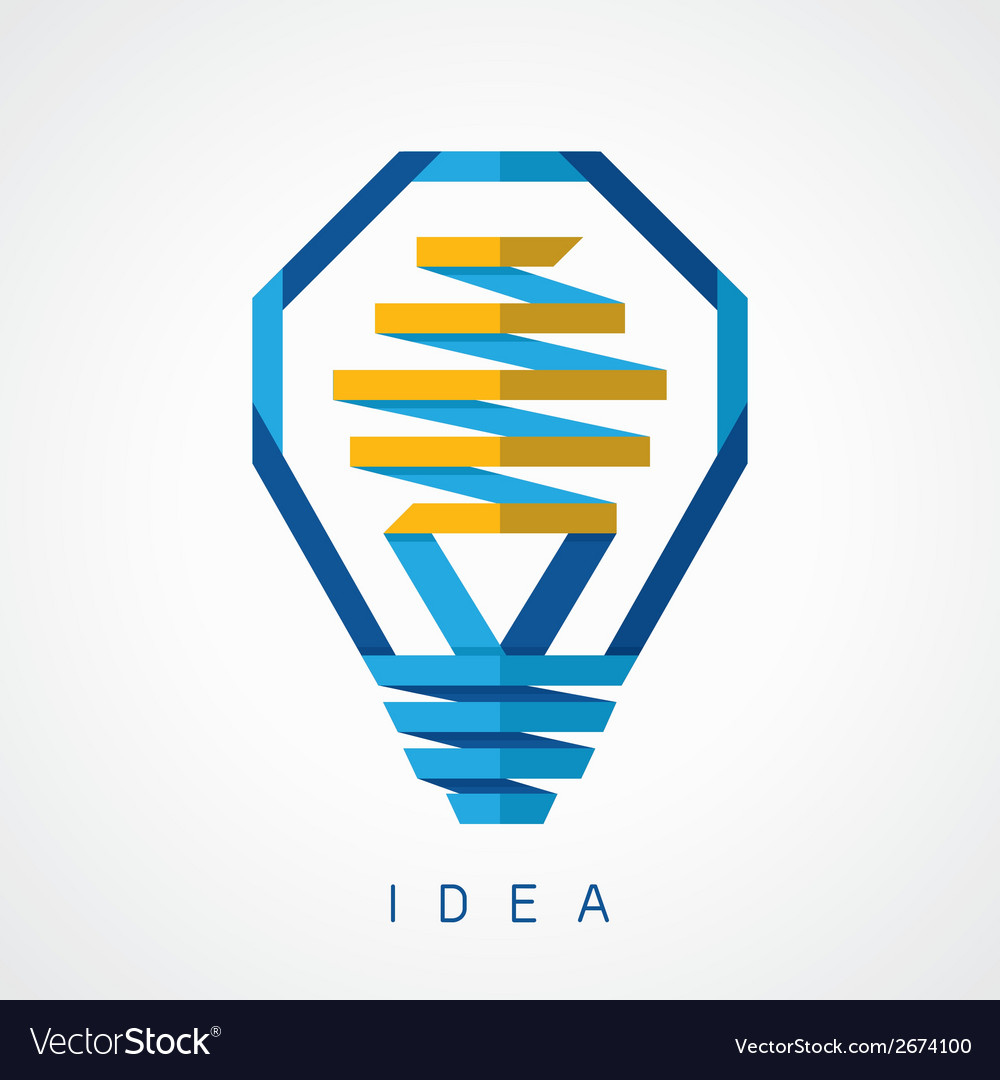 Light bulb idea icon vector | Price: 1 Credit (USD $1)