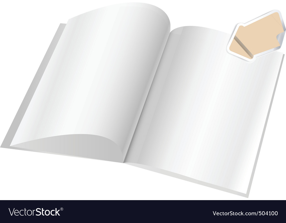 Magazine blank page template f vector | Price: 1 Credit (USD $1)