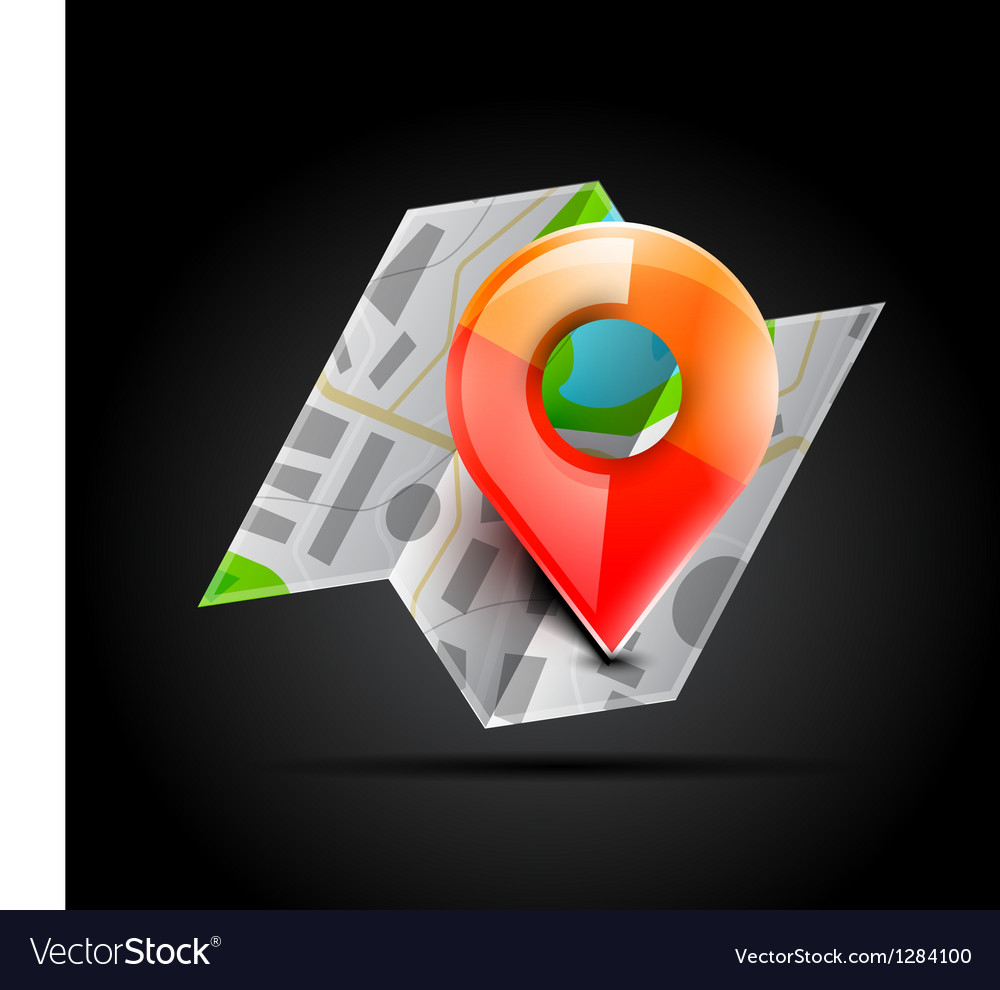 Map navigation icon vector | Price: 1 Credit (USD $1)