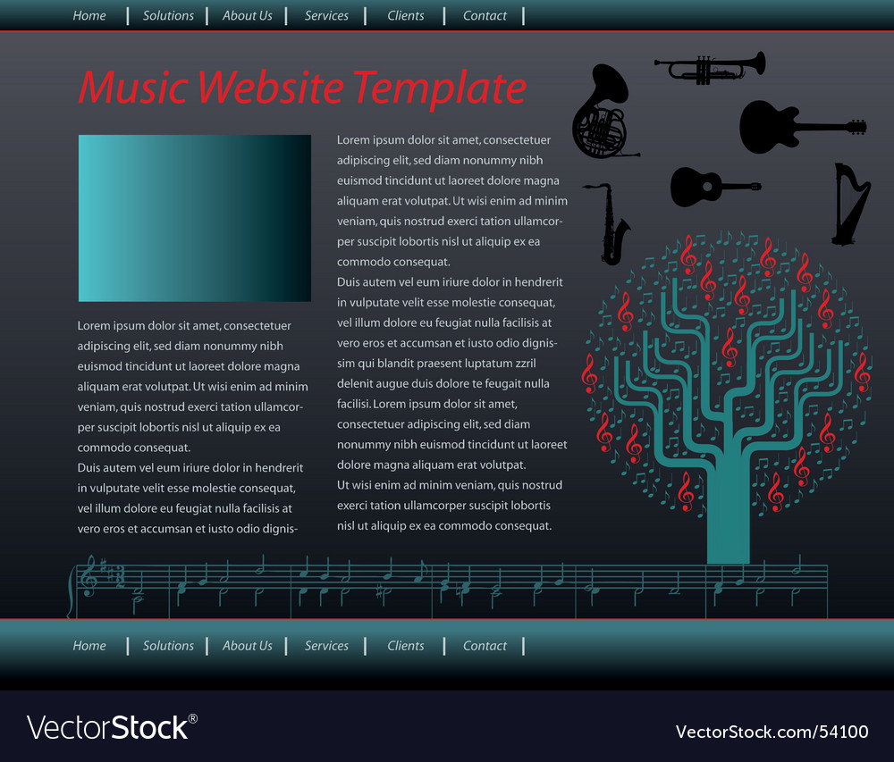 Music web vector | Price: 1 Credit (USD $1)