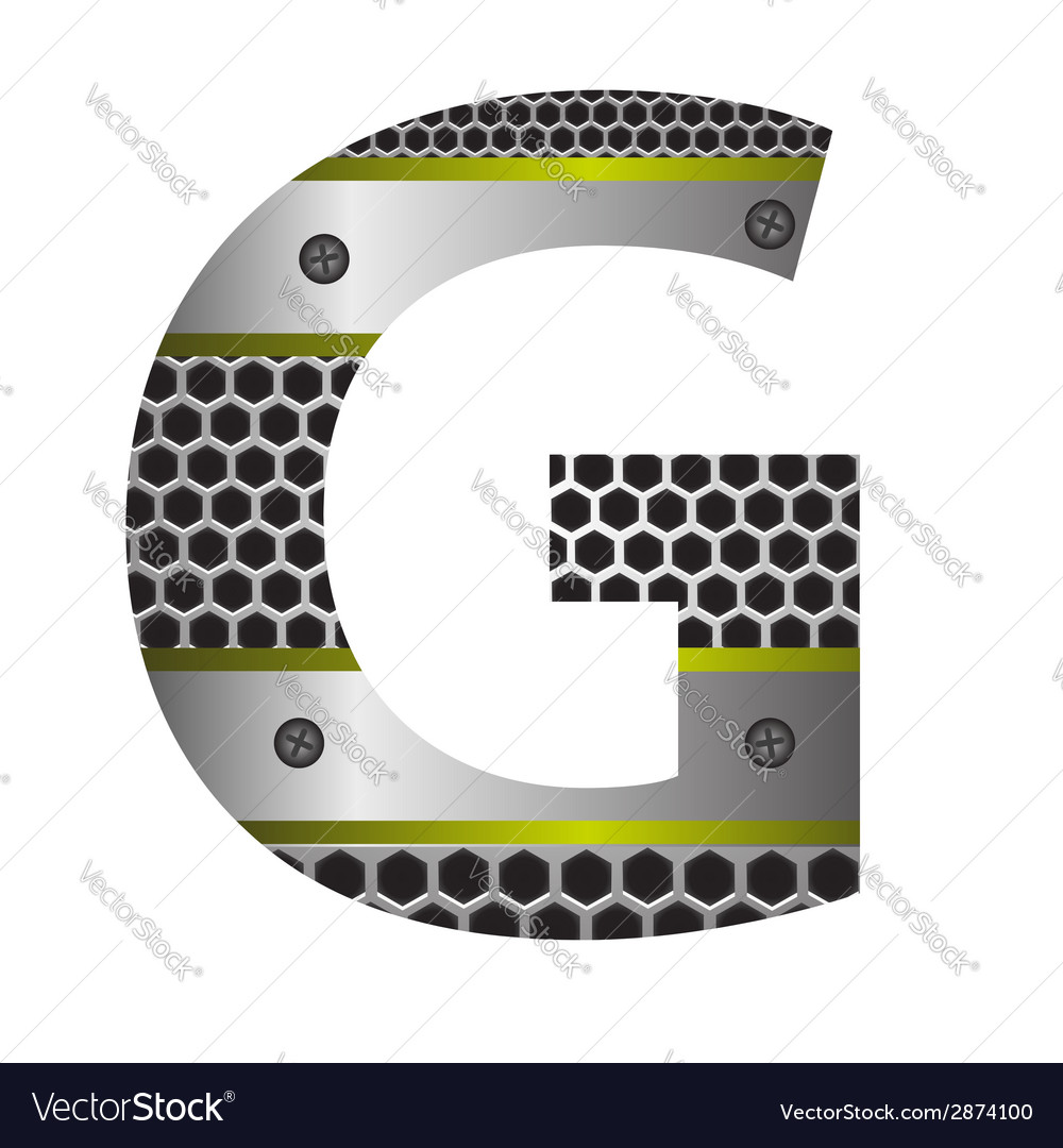 Perforated metal letter g vector | Price: 1 Credit (USD $1)