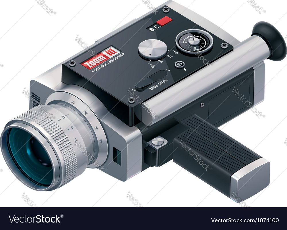 Retro camcorder icon vector | Price: 5 Credit (USD $5)