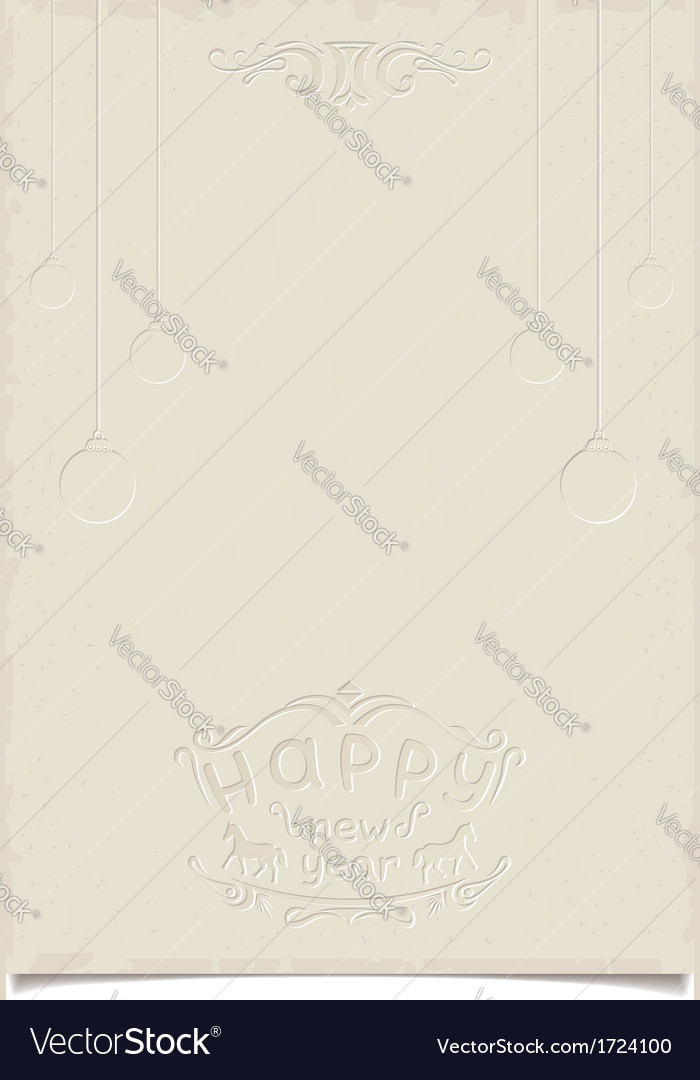 Retro template for christmas greetings vector | Price: 1 Credit (USD $1)