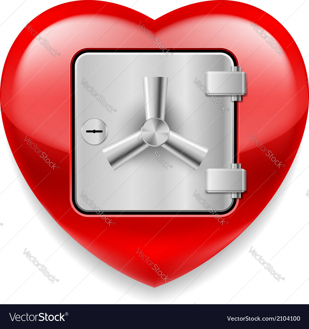 Shiny red heart as a safe vector | Price: 1 Credit (USD $1)