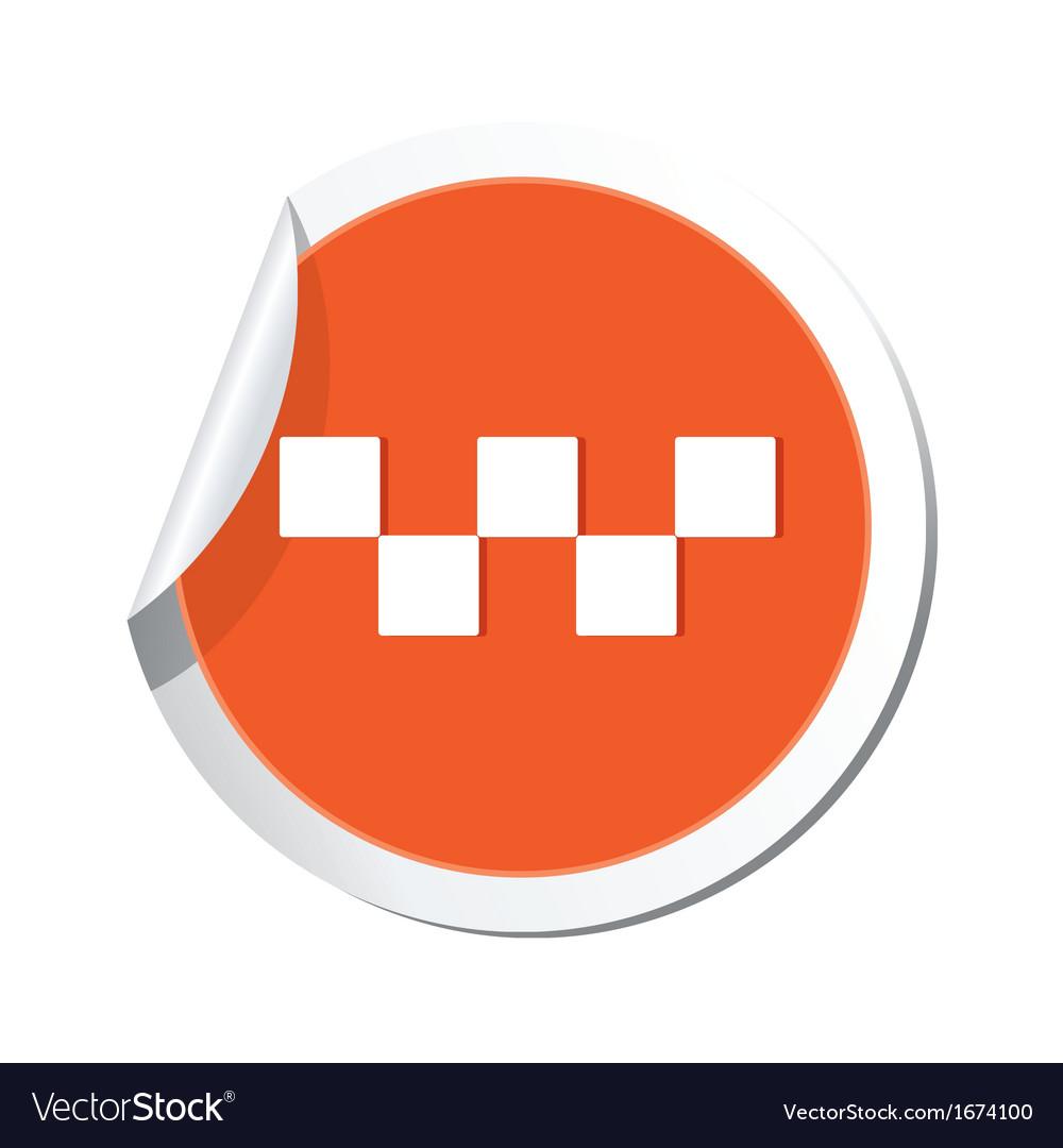 Taxi symbol orange sticker vector | Price: 1 Credit (USD $1)