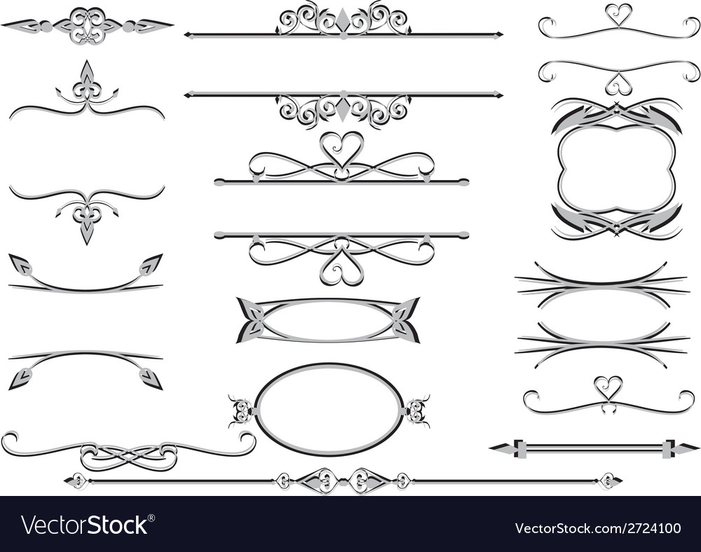 Victorian ornate floral labels  frames or vector | Price: 1 Credit (USD $1)