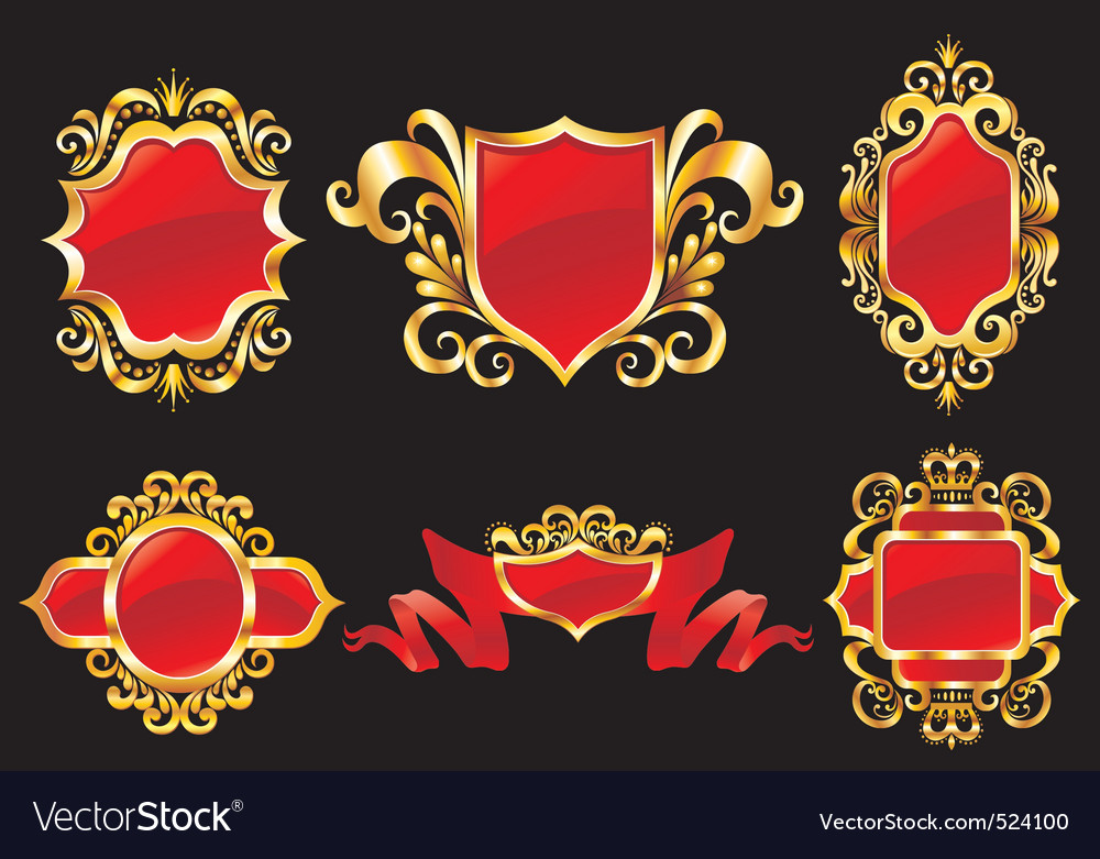 Vintage style shields vector | Price: 1 Credit (USD $1)