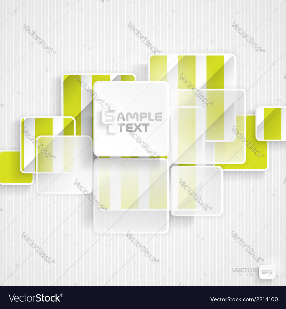 White square element on stripes background vector | Price: 1 Credit (USD $1)