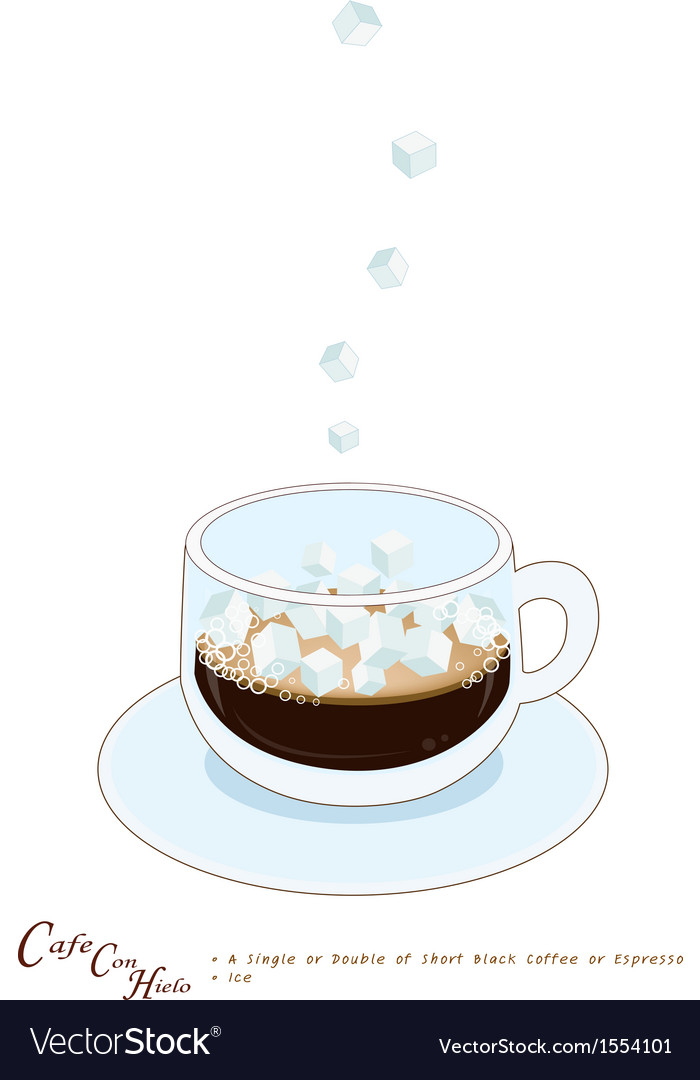 A cup of coffee con hieto with ice cream vector | Price: 1 Credit (USD $1)