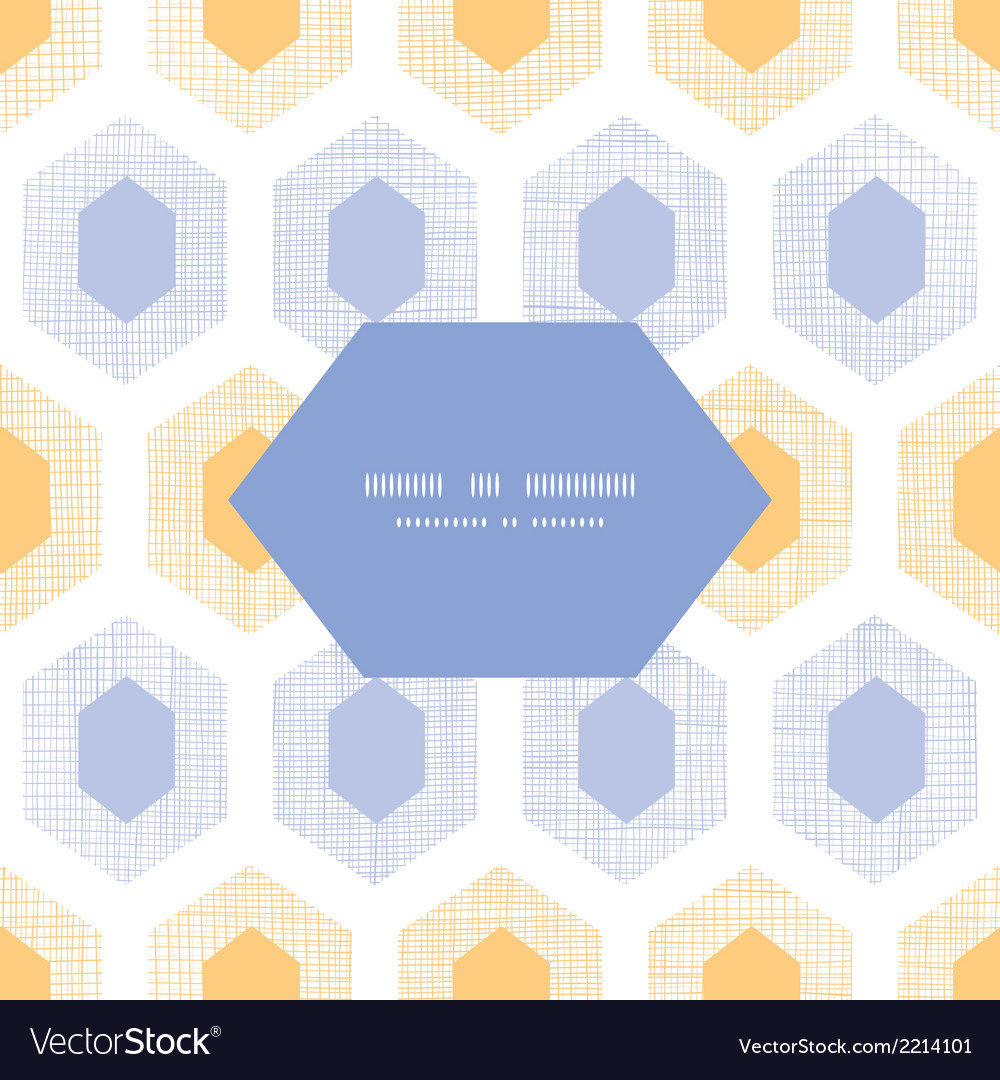 Abstract purple yellow honeycomb fabric textured vector | Price: 1 Credit (USD $1)