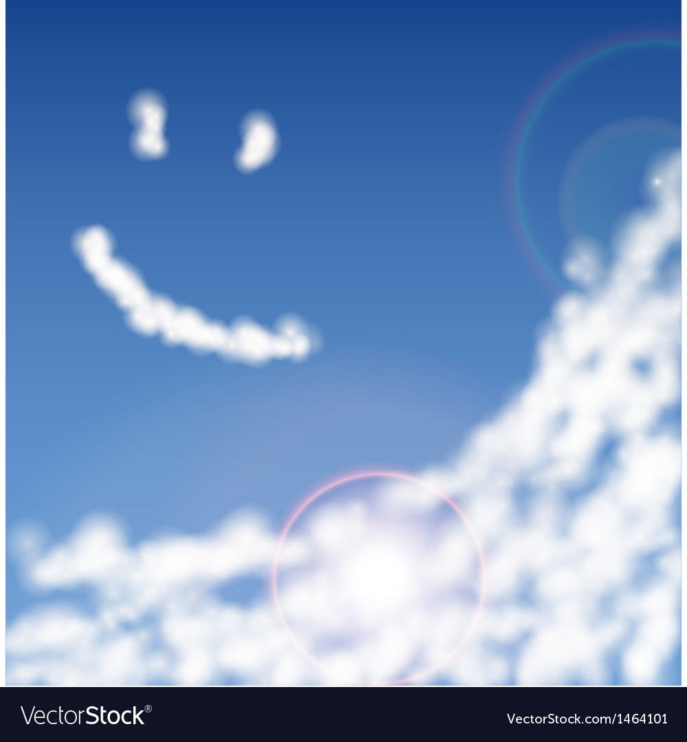 Blue sky with clouds closeup vector | Price: 1 Credit (USD $1)