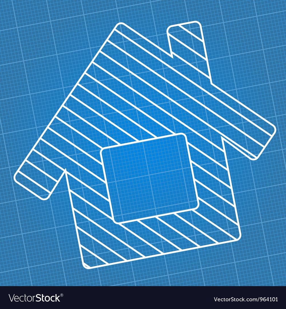 Blueprint house vector | Price: 1 Credit (USD $1)