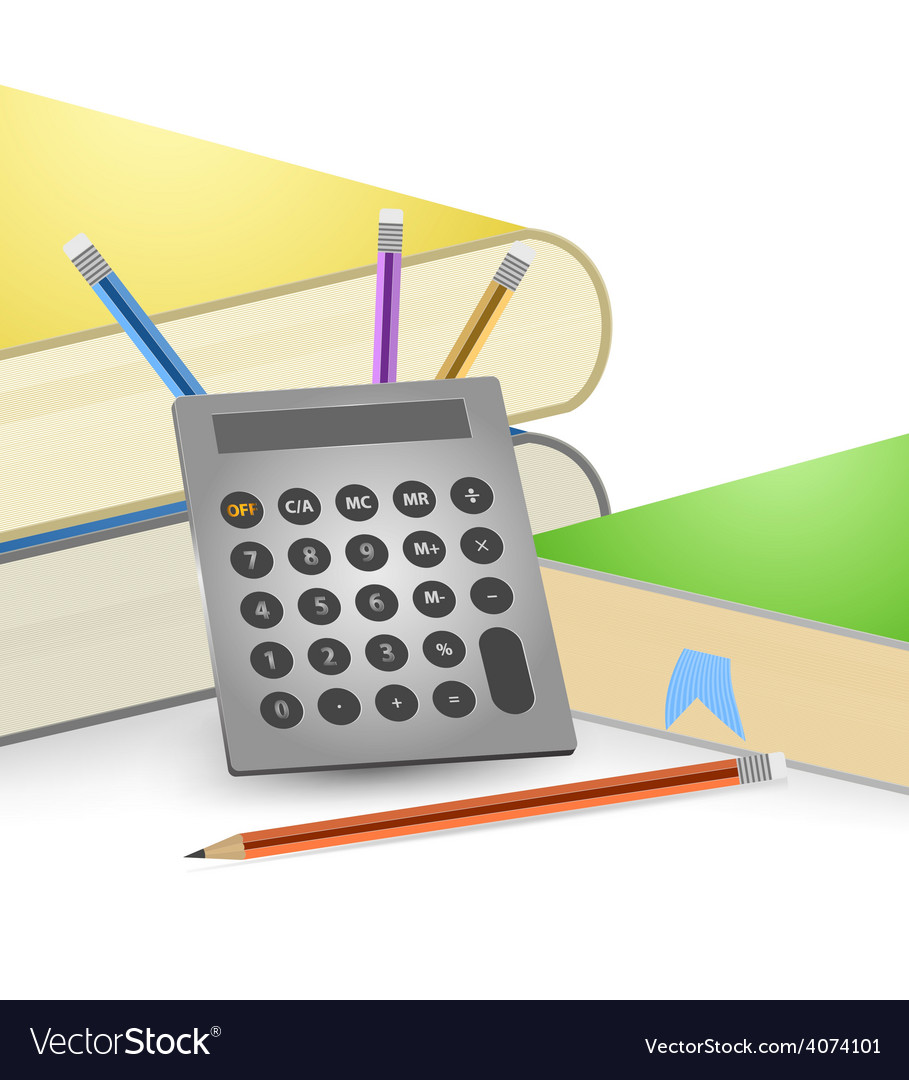 Calculate and books vector | Price: 1 Credit (USD $1)