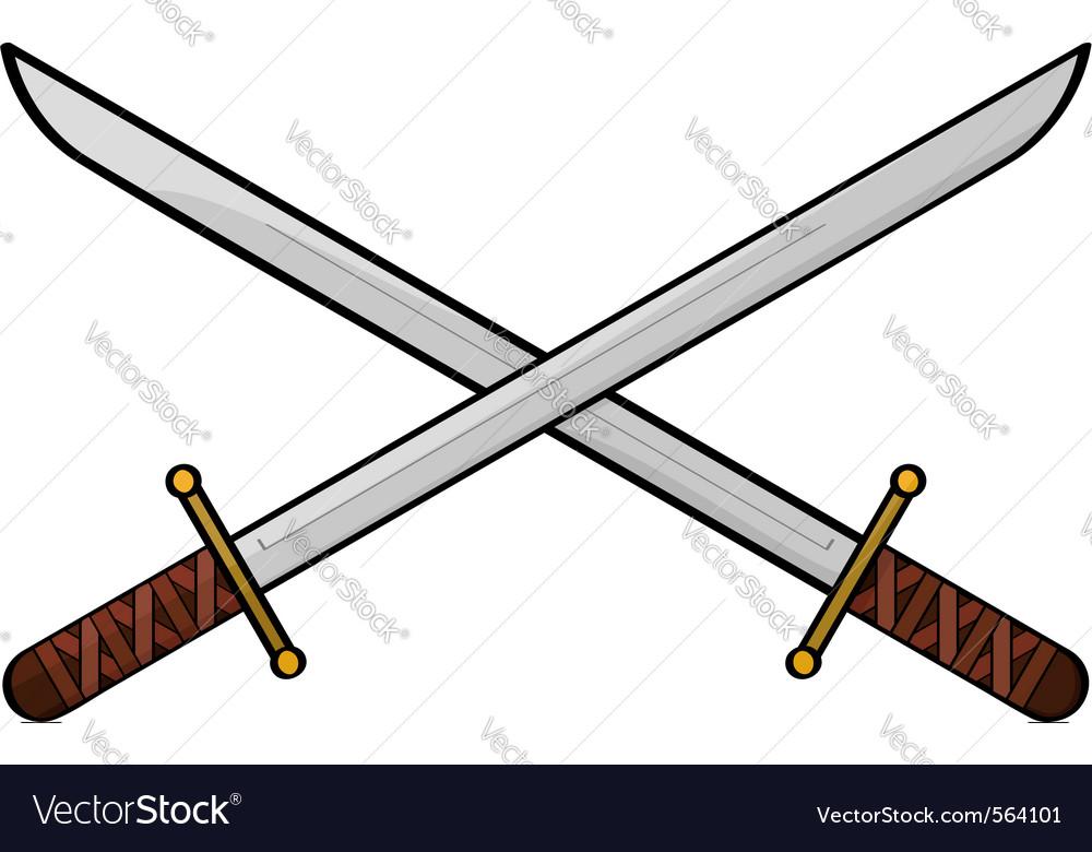 Cartoon swords vector | Price: 1 Credit (USD $1)