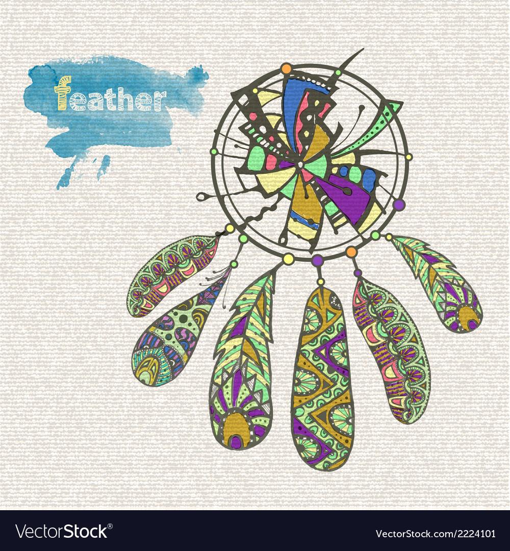 Decorative dream catcher vector | Price: 1 Credit (USD $1)