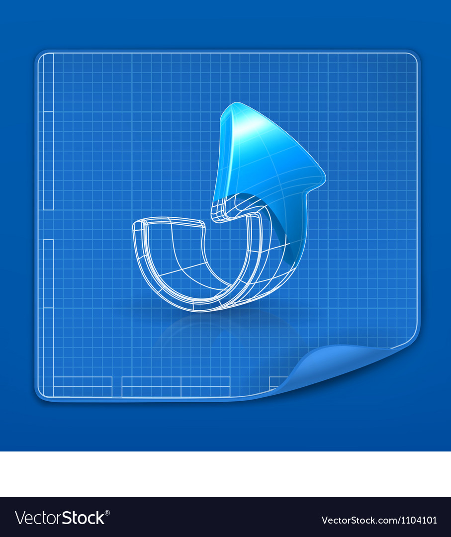 Drawing arrow blueprint vector | Price: 1 Credit (USD $1)