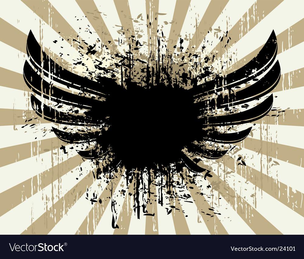 Grunge wings vector | Price: 1 Credit (USD $1)