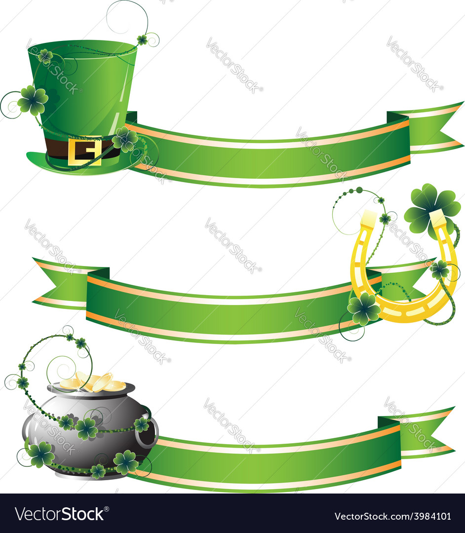 Hat horseshoe and pot with gold vector | Price: 1 Credit (USD $1)