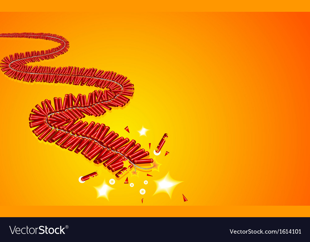Holiday firecracker vector | Price: 1 Credit (USD $1)