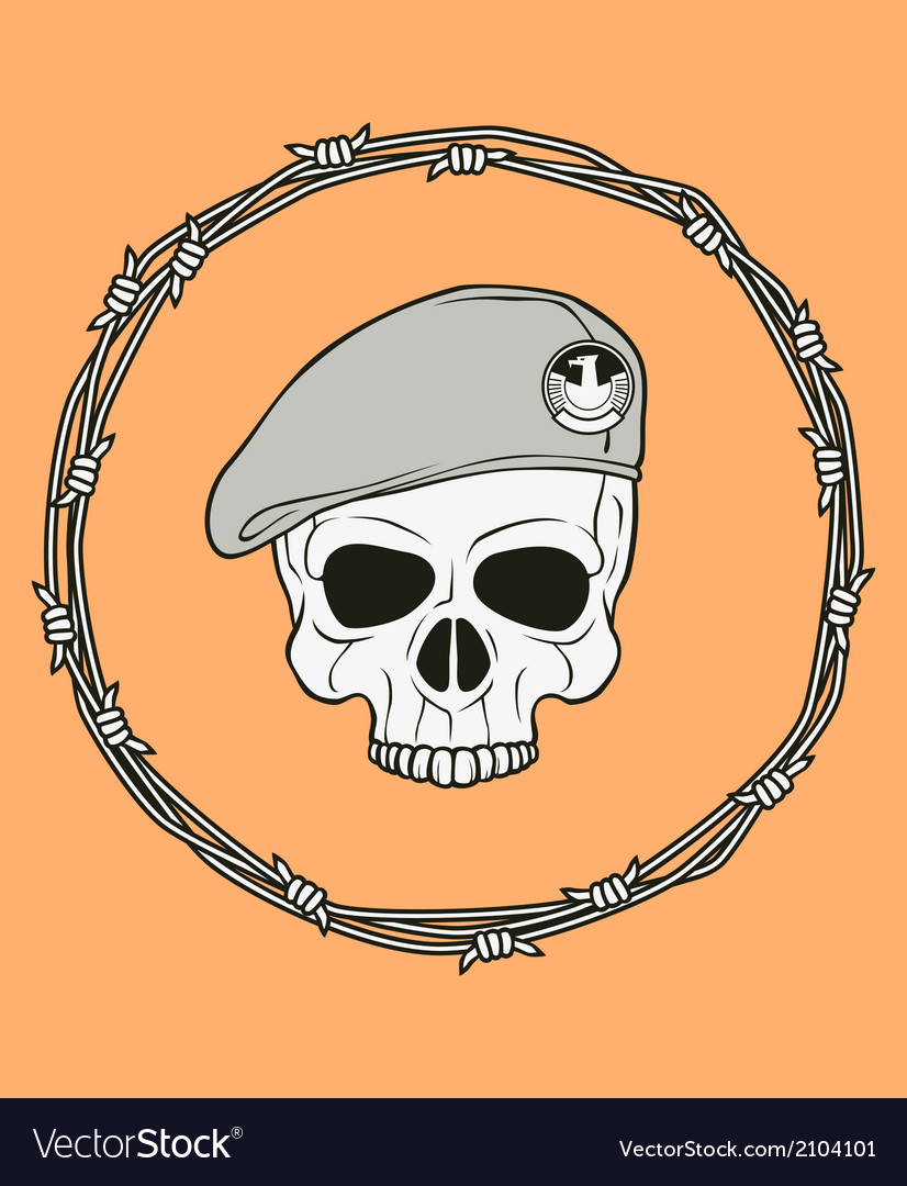 Monochrome skull vector | Price: 1 Credit (USD $1)