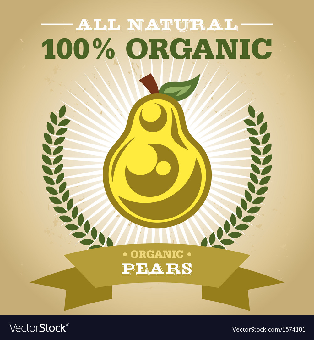 Organic pear vector | Price: 1 Credit (USD $1)