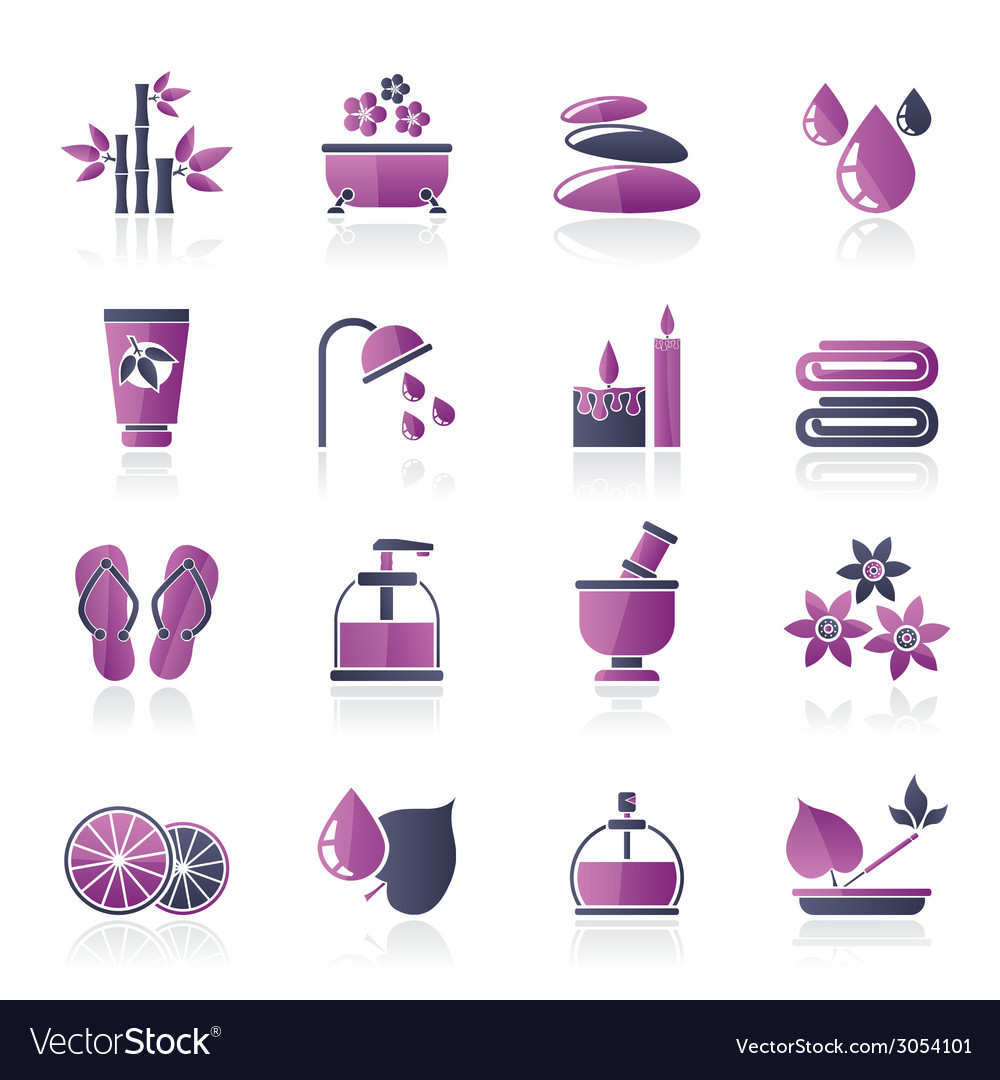 Spa and relax objects icons vector | Price: 1 Credit (USD $1)
