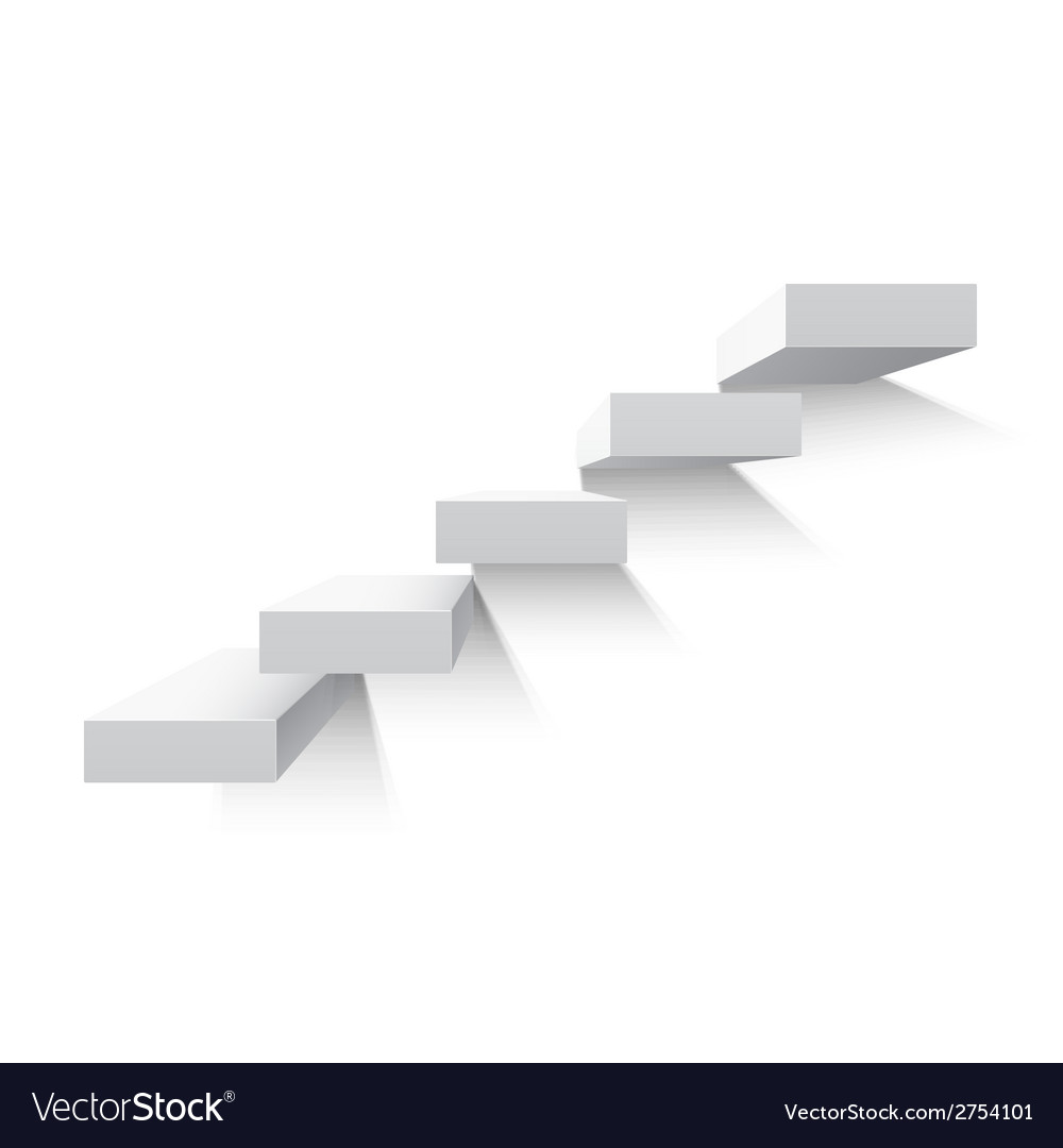 Stairs isolated on white background vector | Price: 1 Credit (USD $1)