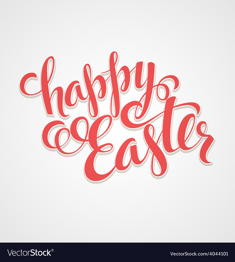 Title happy easter hand drawn lettering vector | Price: 1 Credit (USD $1)