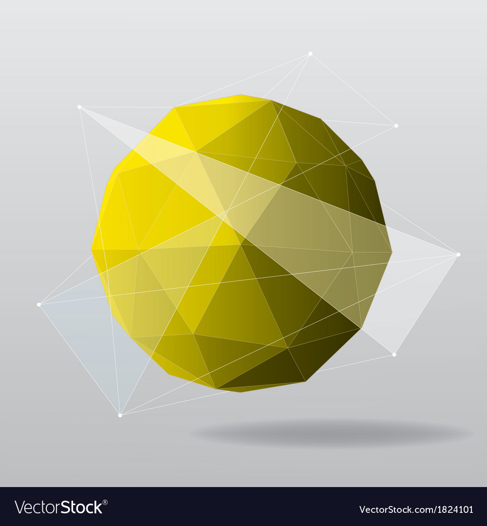 Yellow globe modern geometrical background vector | Price: 1 Credit (USD $1)