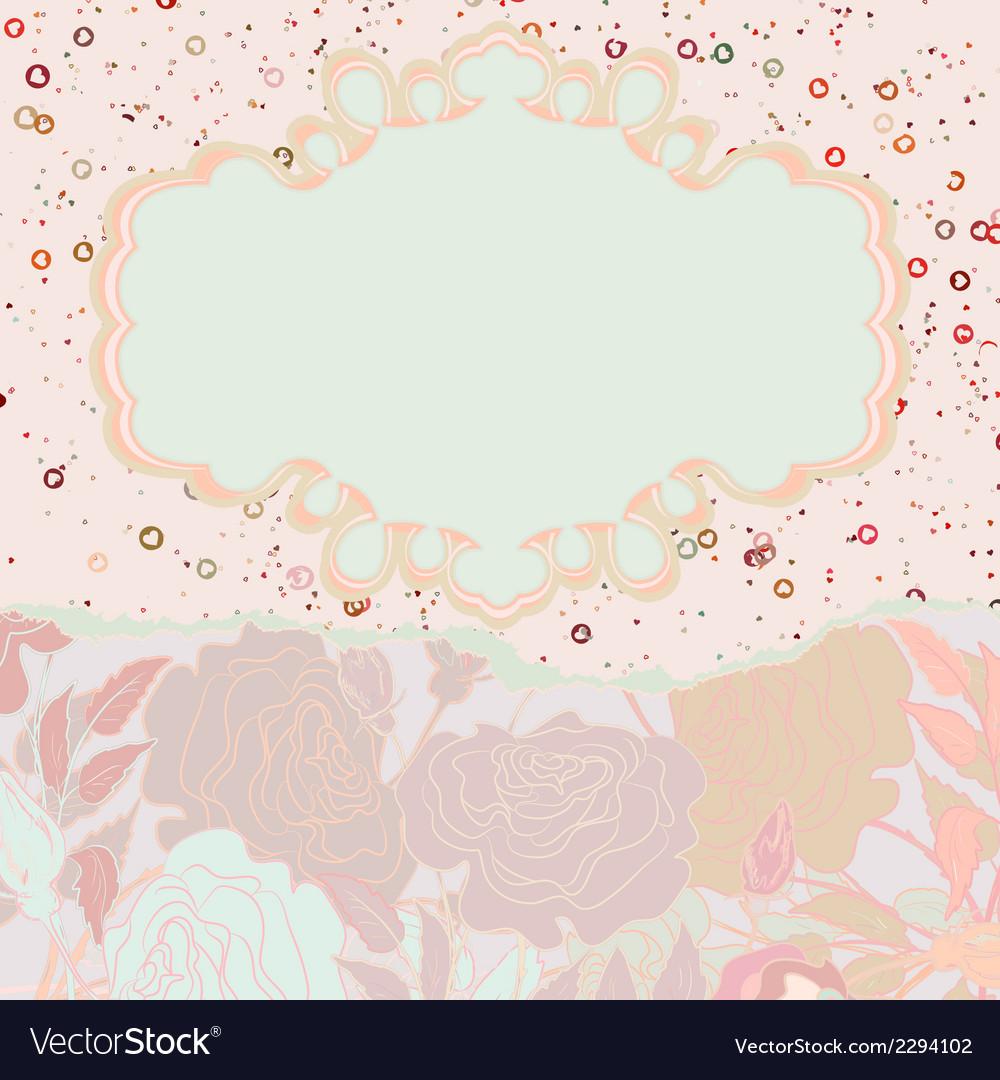 Beautiful retro floral valentine card eps 8 vector   Price: 1 Credit (USD $1)