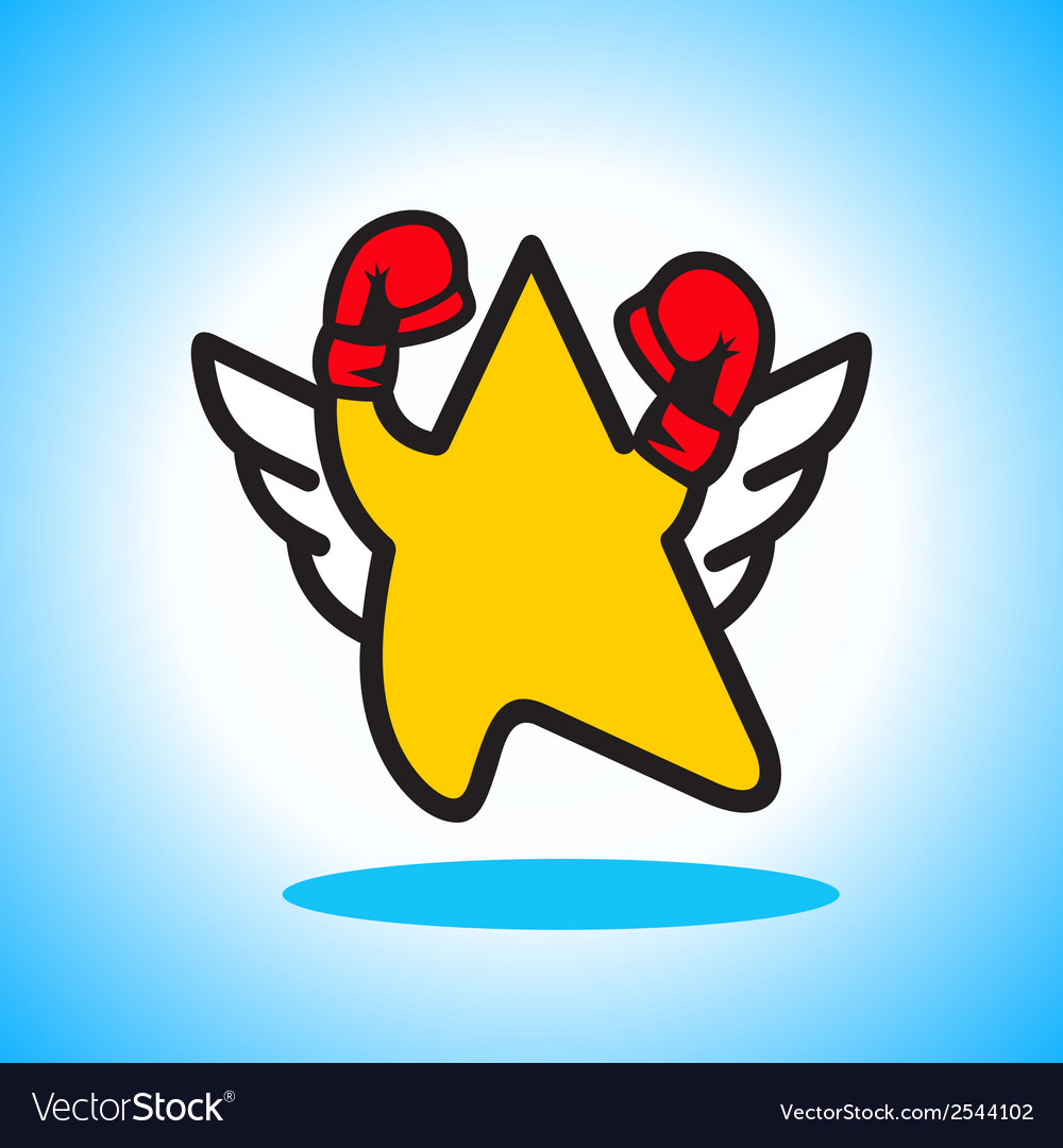 Boxing star sign vector | Price: 1 Credit (USD $1)