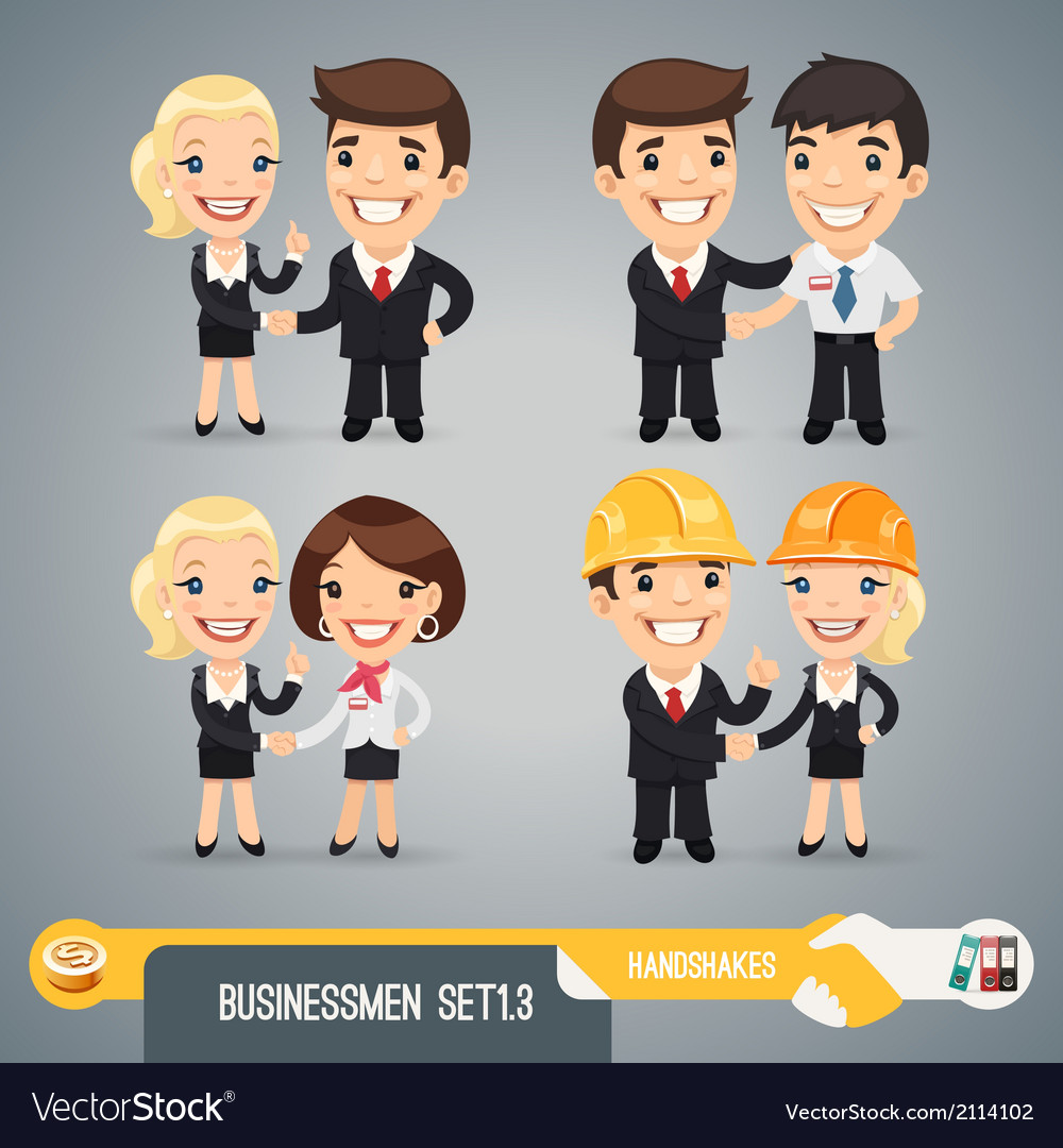Businessmans cartoon characters set13 vector | Price: 3 Credit (USD $3)