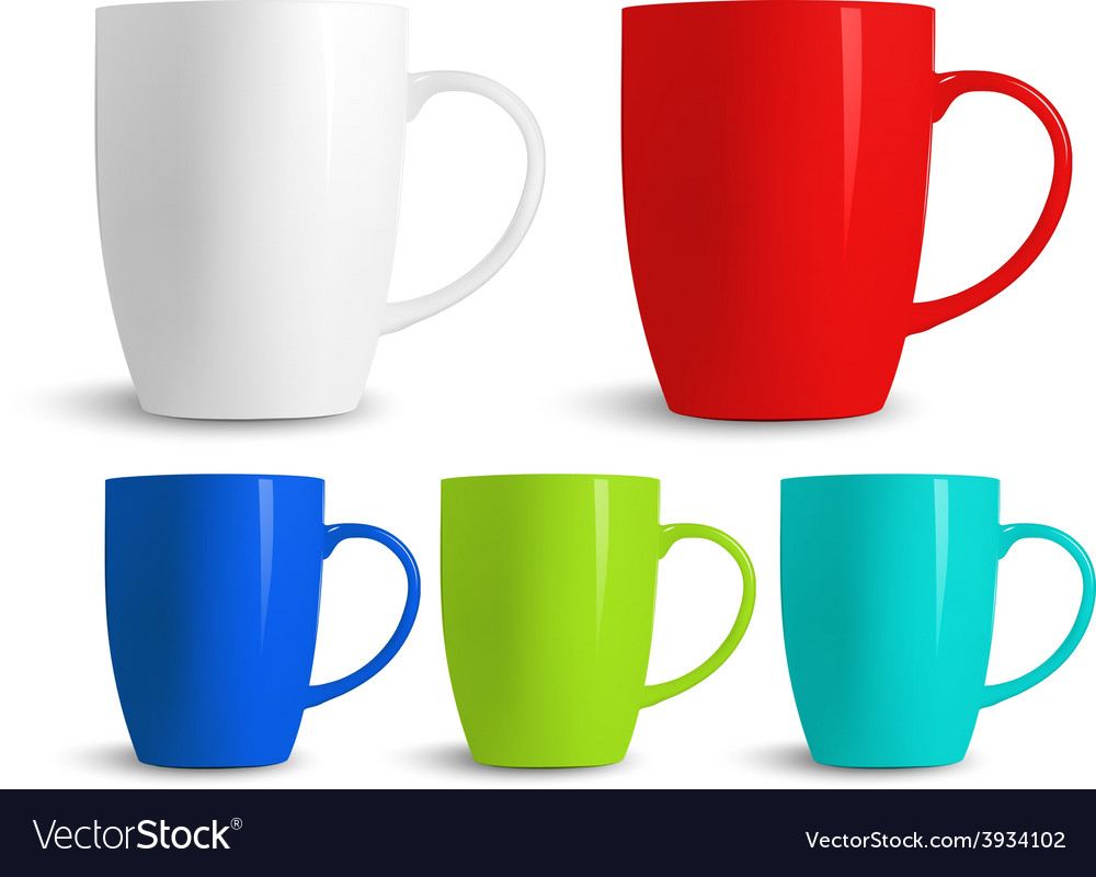 Colorful cups vector | Price: 3 Credit (USD $3)