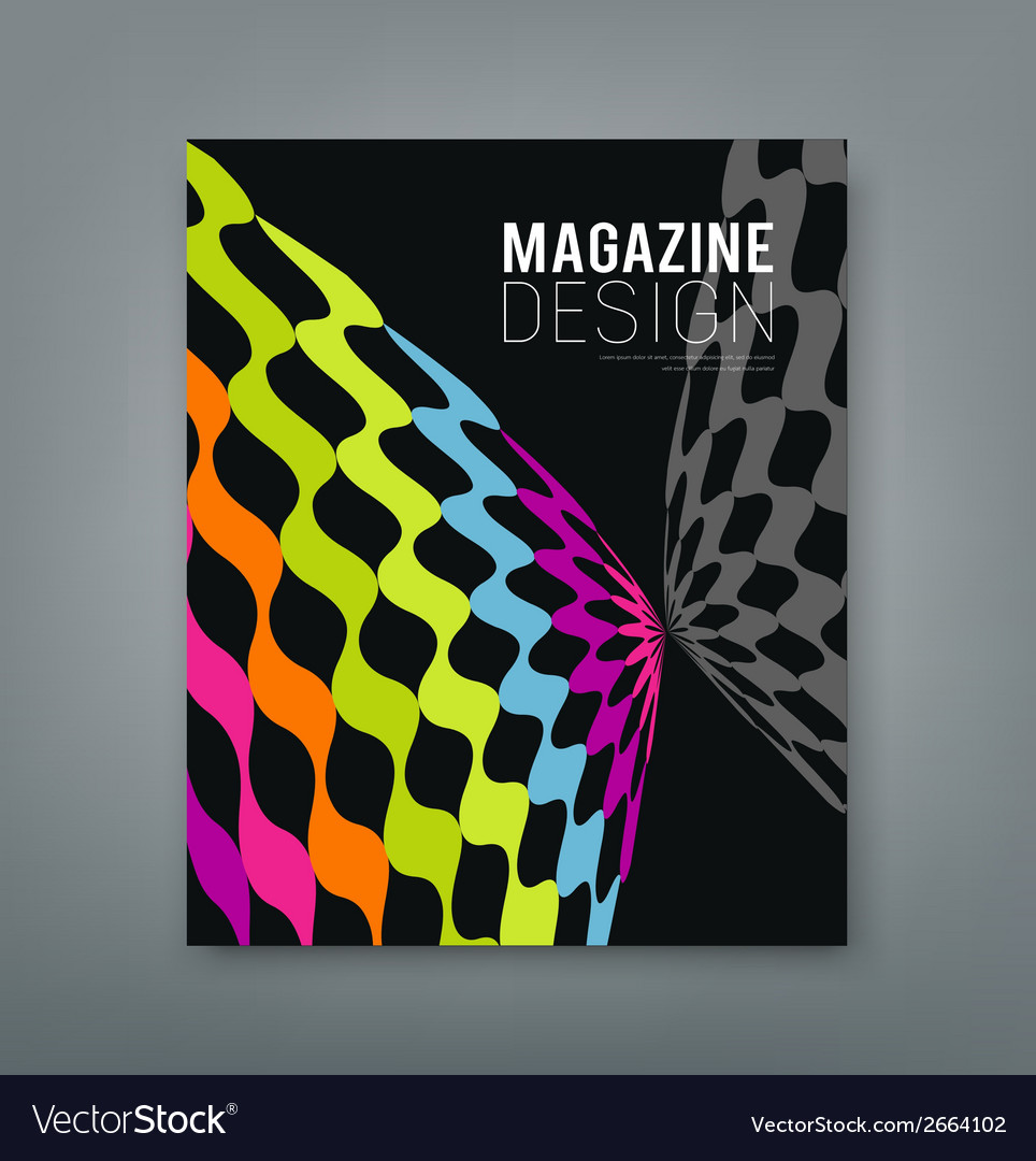 Cover magazine abstract butterfly design vector | Price: 1 Credit (USD $1)
