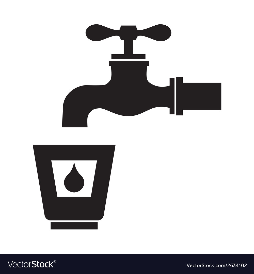 Drinking water icon vector | Price: 1 Credit (USD $1)