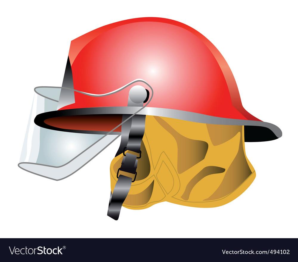 Fire helmet vector | Price: 1 Credit (USD $1)